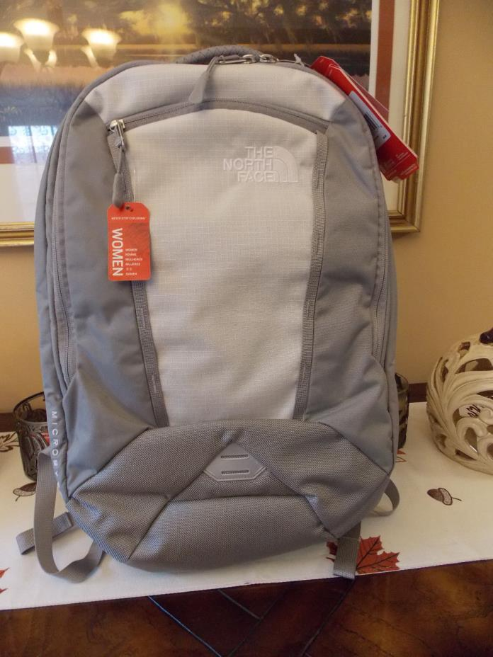 NWT The North Face Microbyte Backpack in Vaporous Grey / Metallic Silver NEW!