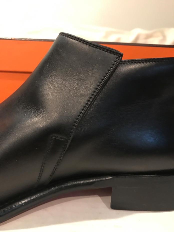 Hermes black chelsea boots and Kiton voile shirt