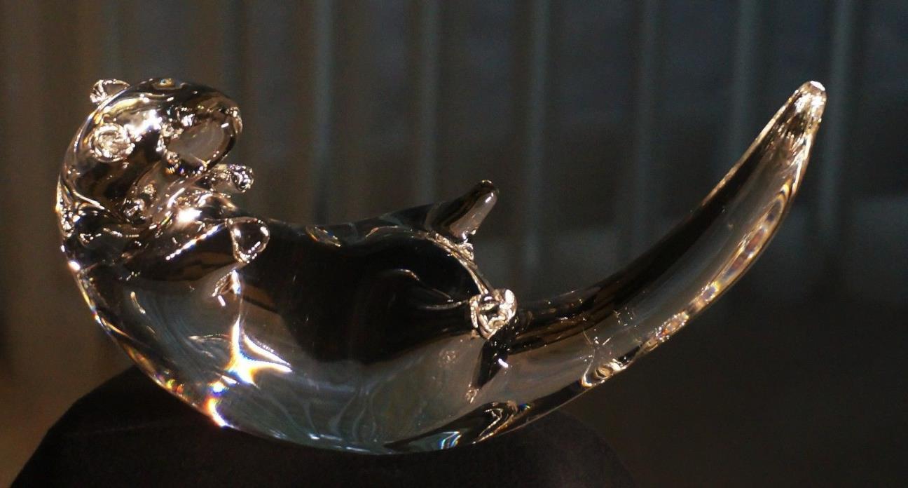 Steuben Crystal Art Glass OTTER