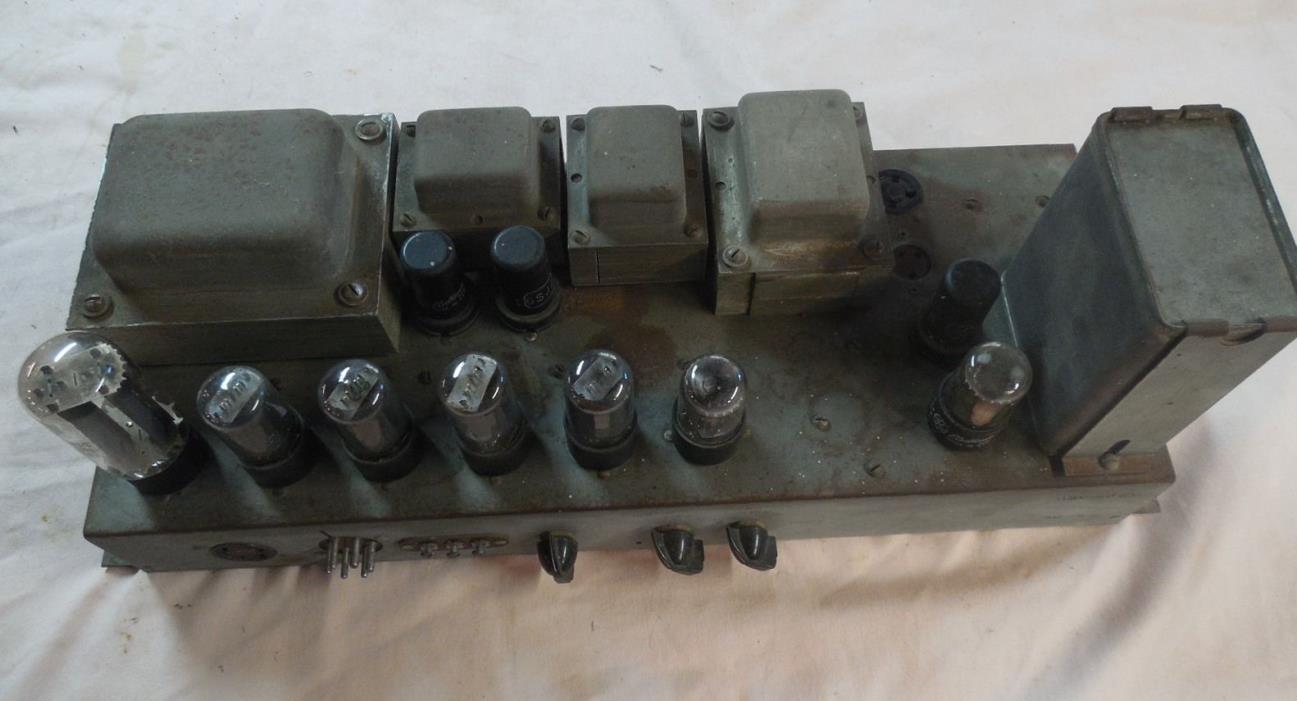 JR-20 Hammond Organ Tone Cabinet AO-15-C Vintage Tube Amp Full set of tubes.