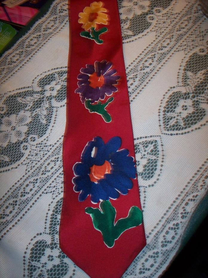 SAVE THE CHILDREN HAPPY FLOWERS DESIGNED JONATHAN AGE 4 ALL SILK NECKTIE
