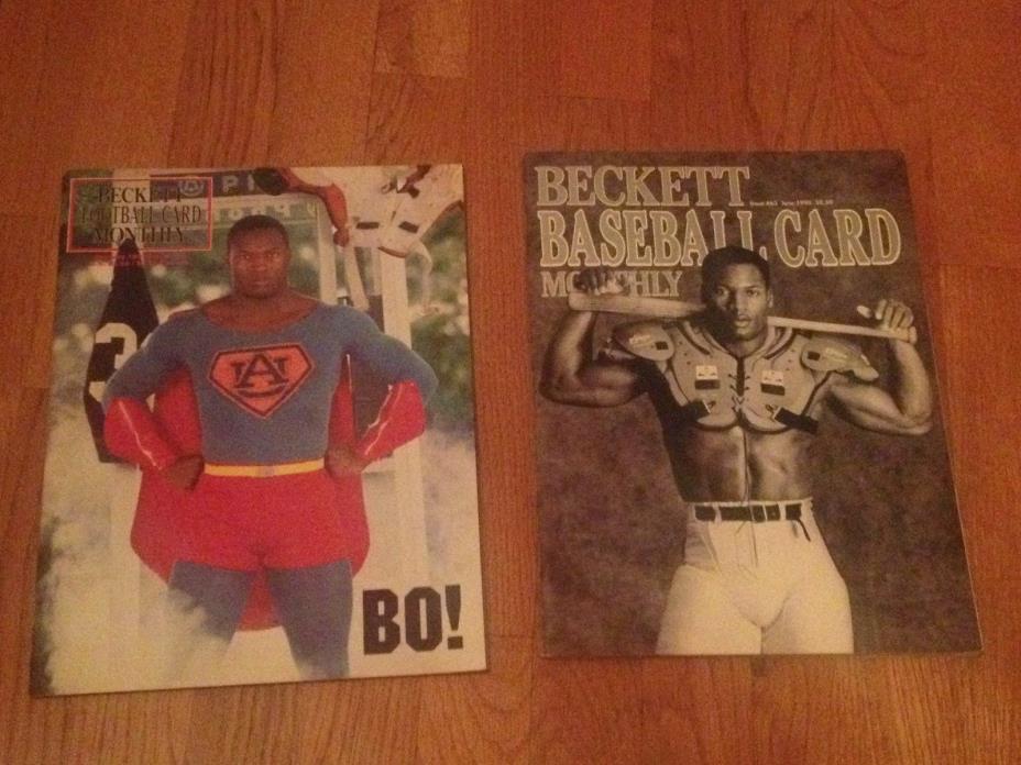 Bo Jackson Becket Magazines (Lot 2) Basebal #69 and Football #10