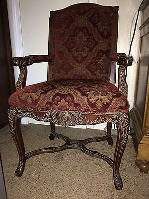 Ralph Lauren Chenille Upholstered Arm Chair