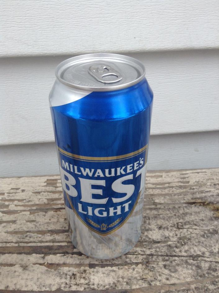COLLECTOR 16ONZ MILWAUKEE BEST LIGHT ALUMINUM  BEER CAN CANS