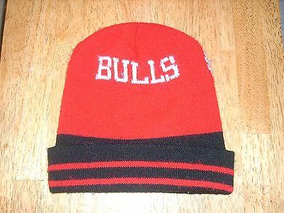 VINTAGE 90's CHICAGO BULLS Winter Knit Hat MICHAEL JORDAN Era Basketball NBA