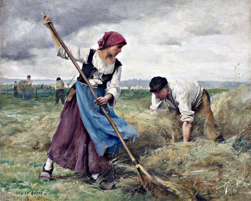 Harvesting of the Hay by French Artist Julien Dupré. Giclee Art Print Size 11x14