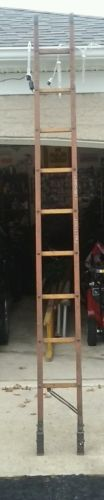 antique wood 10 foot fireman folding attic ladder