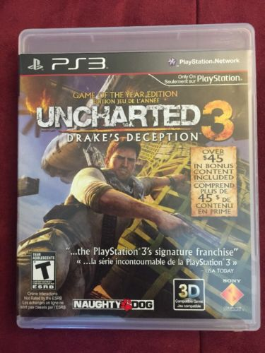Uncharted 3: Drake's Deception -- Game of the Year Edition (PS3, 2011)