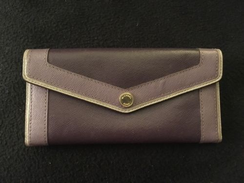 Michael Kors Two Toned Purple Leather Wallet