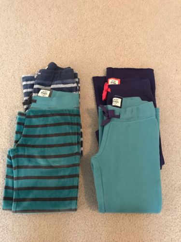 Mini Boden Girls Velour Pants Sweat Pants Huge Lot Of 4 Pair Size 6  EUC