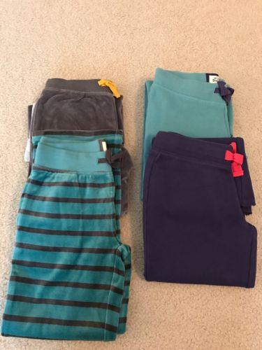 Mini Boden Girls Velour Pants Sweat Pants Huge Lot Of 4 Pair Size 8   NEW
