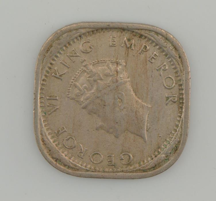 1939 India 2 Annas King George VI, Type 2 *1493