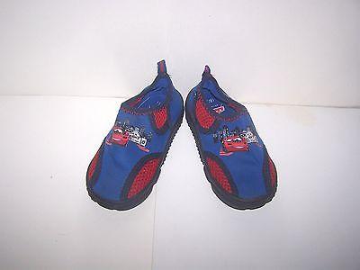 Disney CARS World Grand Prix Boy Water shoes sz 7/8 Blue Beach Swim Shoes Med