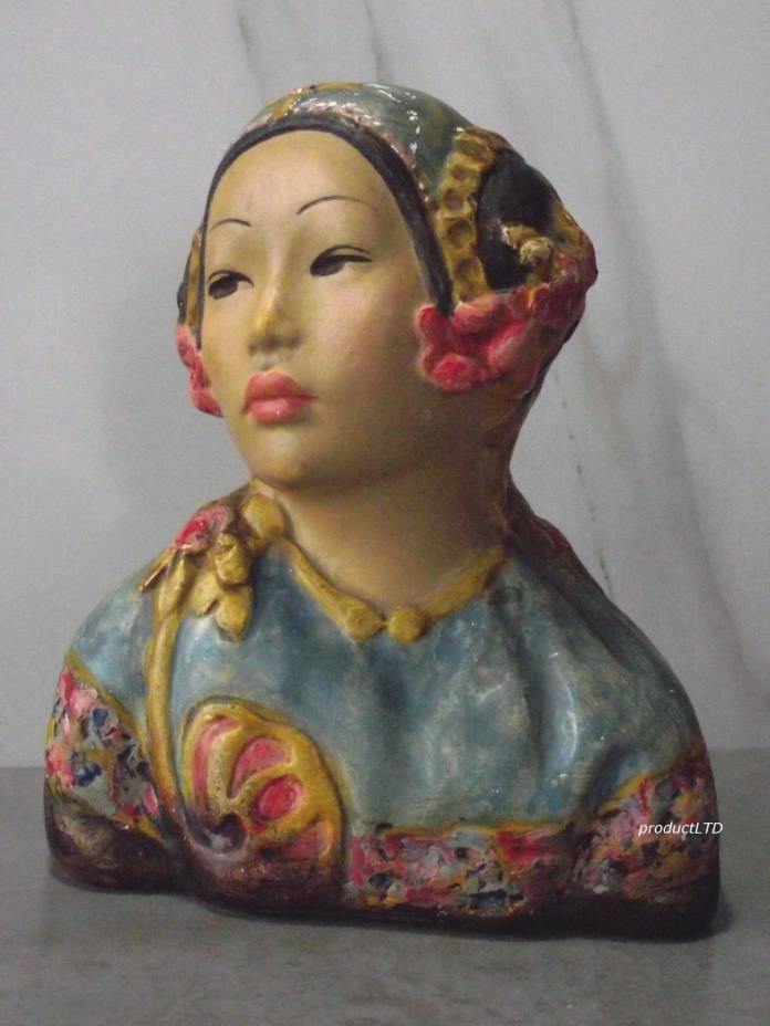 Esther Hunt Signed Asian Chalkware