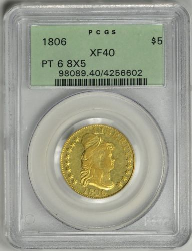 1806  $5 Gold  PCGS  XF40  OGH  *  Capped Bust Right  *  Pointed 6  *  #4256602