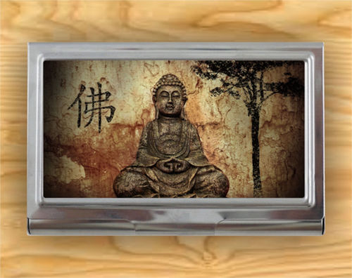 BUDDHA ZEN ATTITUDE AMBIANCE CARD CASE HOLDER -pdv6X