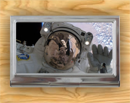 USA ASTRONAUTE SPACE AROUND HEARTH CARD CASE HOLDER -kvn7X