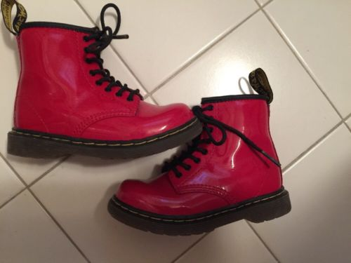 Dr martens Shoes Boots Toddler Sz  8  Red Patent Leather