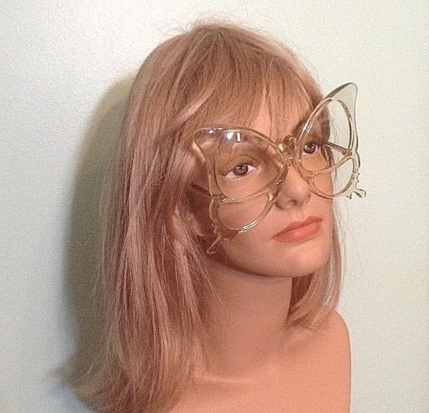 Rare Vintage Anglo American Oversize Butterfly Frame Eyeglasses England