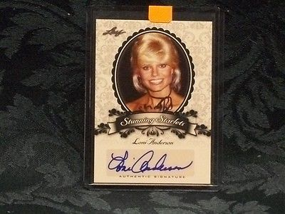 2013 Leaf Trading Card Signed By Loni Anderson Stunning Starlets Very Nice!!