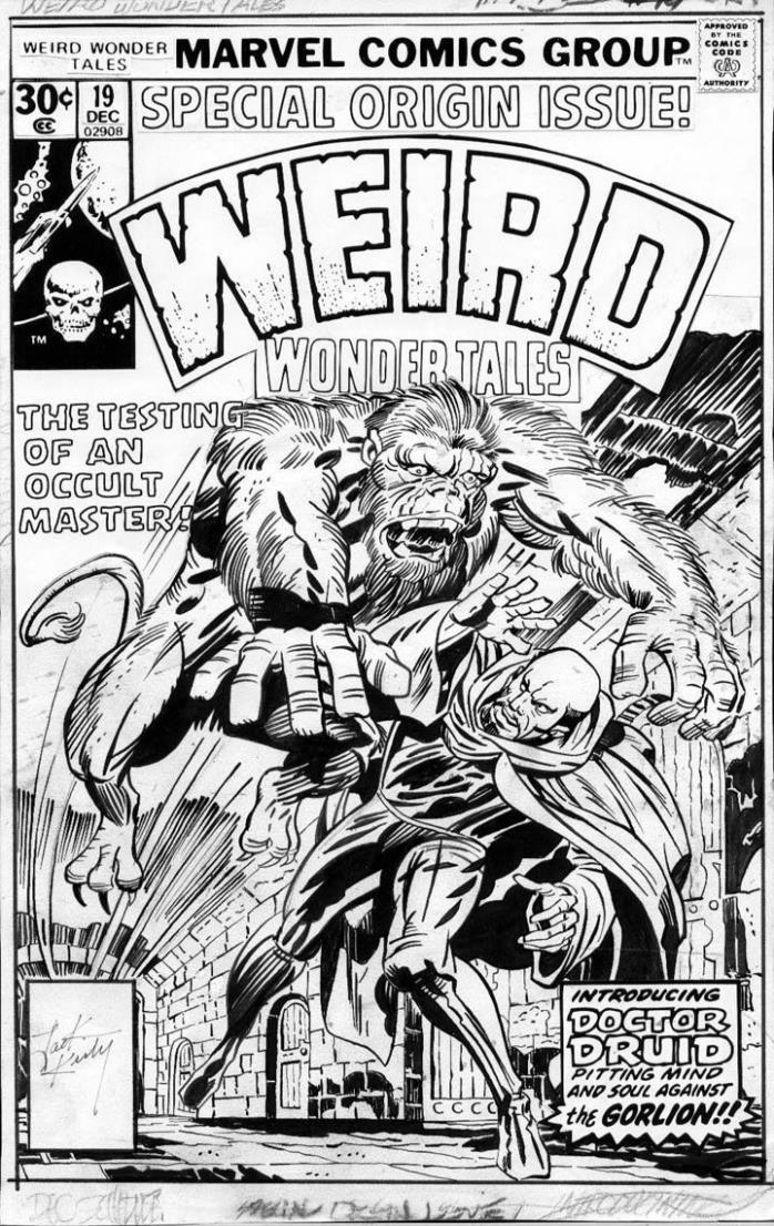 JACK KIRBY - Weird Wonder Tales #19 cover, 1st art - Origin Doctor Droom / Druid
