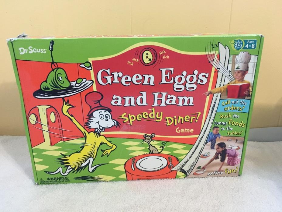 Dr Seuss Green Eggs and Ham Speedy Diner! Game **Amazing Kids Game** COMPLETE