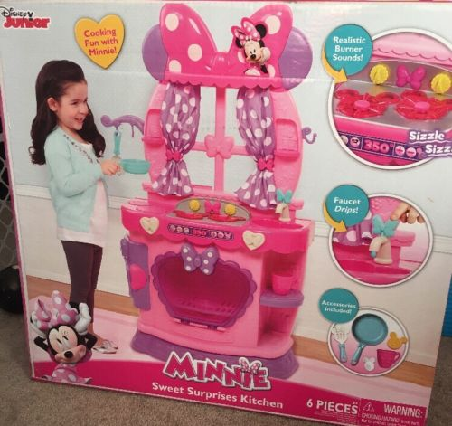 NEW Disney Minnie Mouse Sweet Surprises Kitchen Sound Effects Pink & Purple