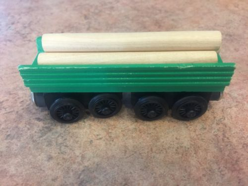 THOMAS /& FRIENDS WOODEN RAILWAY HENRY/'S FOREST LOG CAR ITEM #99051