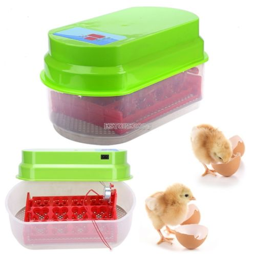 12 Egg Chicken Duck Quail Egg Incubator Digital Temp Control Automatic Hatcher