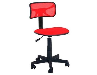 Urban Shop Swivel Mesh Chair Red Cushioned Seat