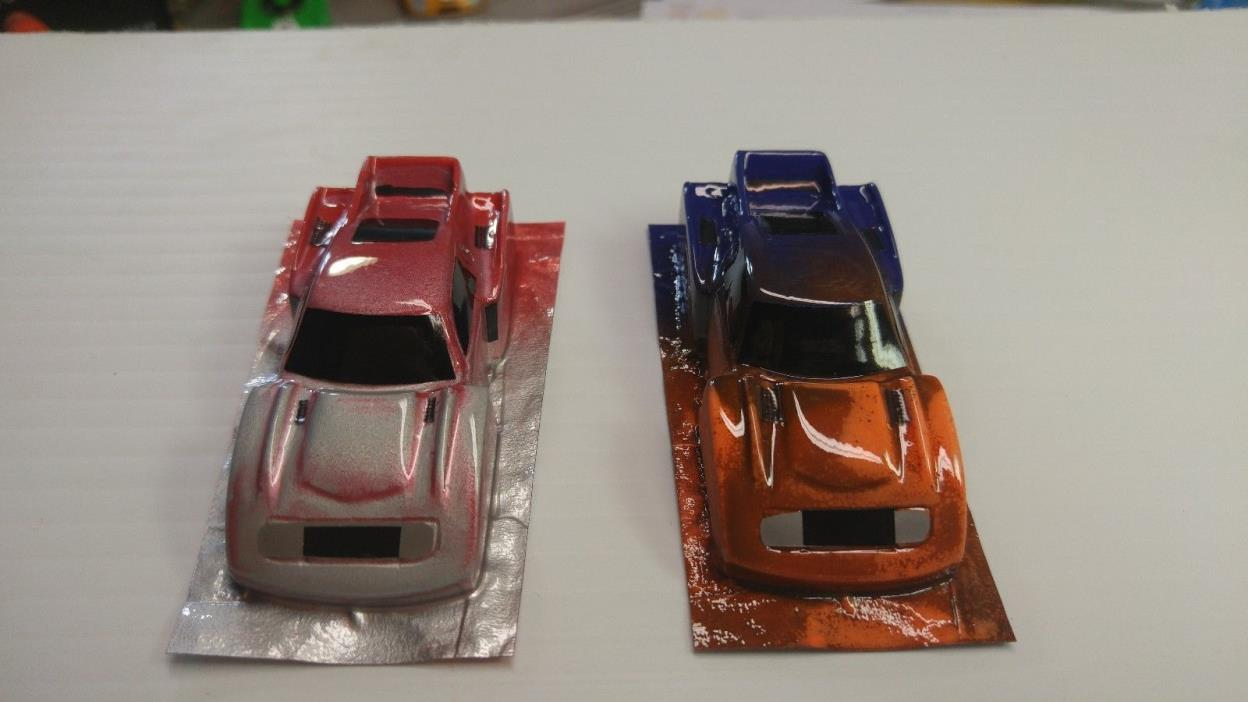 PRICE REDUCED!HO SCALE LOT OF 2 TOYOTA GRP 5 LEXAN BODIES...PAINTED AND DETAILED