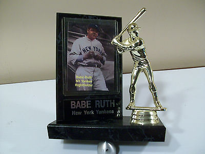 BABE RUTH PLAYERS PLAQUE BASEBALL EQUIPMENT PLAYER CARDS NY YANKEES