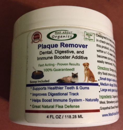 Mad About Organics Plaque Remover Dogs Cats Bad Breath NEW