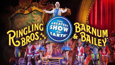 3 tix, Ringling Bros Barnum & Bailey Circus, Baltimore, Sat 4/22/17 Lower Level