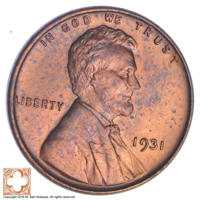 1931 Lincoln Wheat Cent *YB79