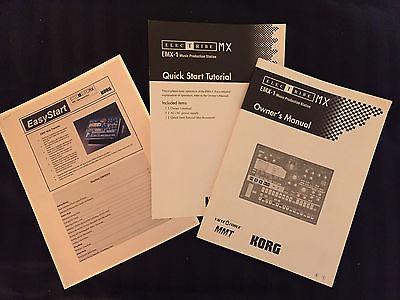 Manuals for Korg Electribe EMX-1