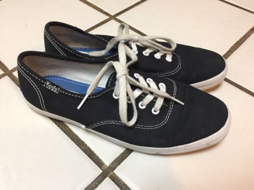 KEDS Classic black Canvas Tennis shoes Sneakers Women's 6 M