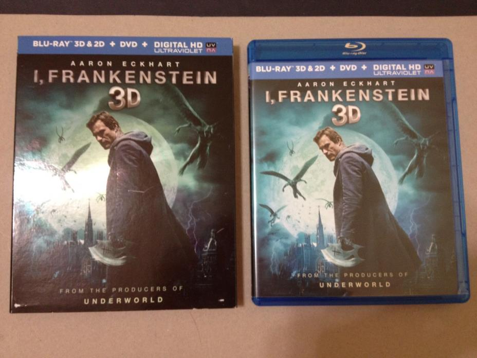 I, Frankenstein - 3D + Blu-ray + DVD - GREAT SCI-FI/ACTION MOVIES - FREE SHIP