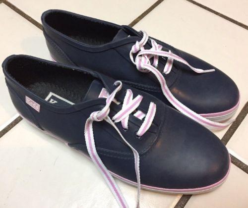KEDS Blue Rubber Tennis Shoes Puddle Jumper Sneakers Sz 7 Women's