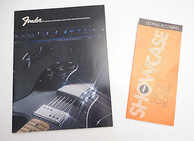 Vtg Fender 1972 Full Color Catalog 65pgs Amps Guitars & Gibson Les Paul Showcase