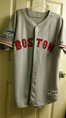 JOHNNY DAMON AUTHENTIC COLLECTION MAJESTIC BOSTON RED SOX AWAY JERSEY