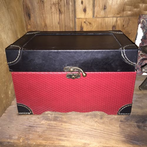 Home Decor Red And Black Box Chest