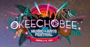 Okeechobee Music and Arts Festival 2 Tickets/Wristbands 03/02/17 (Okeechobee)