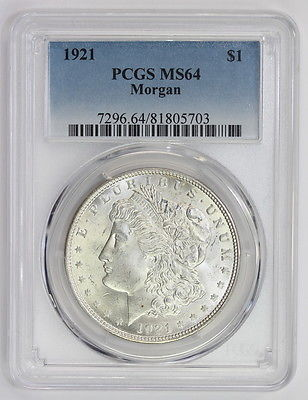 1921 Morgan Silver Dollar MS 64 PCGS (#5703)