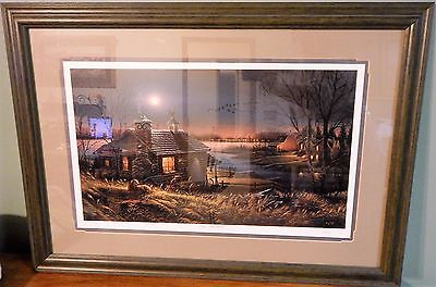 PURE CONTENTMENT Terry Redlin Framed & Matted Signed & Numbered Print C/O/A AP
