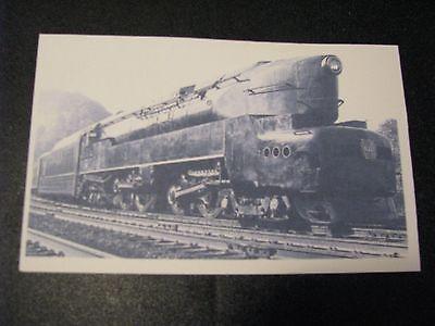 Railroad Postcard Steam Engine