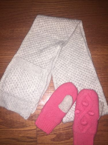 Mini Boden Scarf And Mittens Small