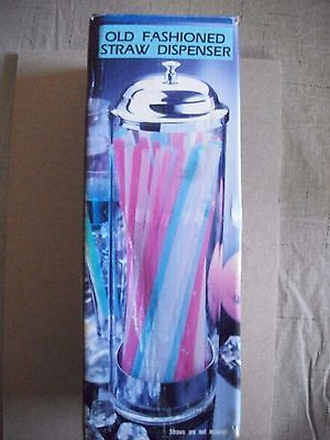 acrylic straw dispenser Old Fashioned (Free Shipping)