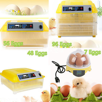48 56 96 Egg Automatic Egg Incubator Poultry Hatcher Chicken/Goose Incubator LOT