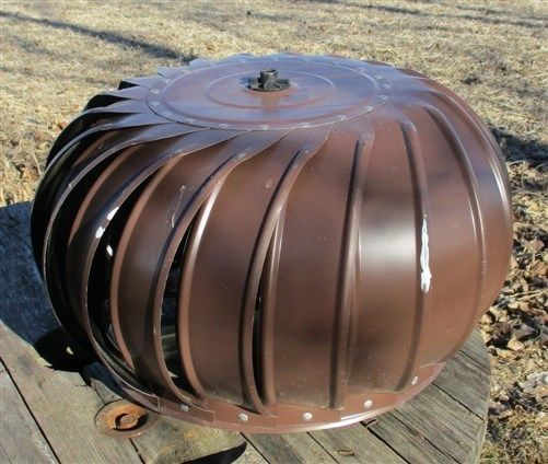 Circular Galvanized Metal Spinning Barn Roof Wind Ventilator Air Turbine Vent e